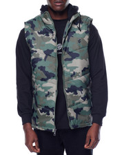 Rocawear - Camo Print Hooded Vest