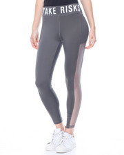 "Leggings - ""Take Risks"" Mesh Sides Active Legging"