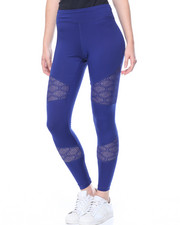Bottoms - Mesh Insert Active Legging