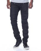 Black Wax Moto Distressed Jean