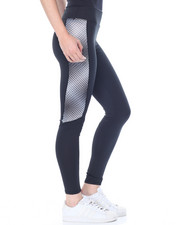 Bottoms - Abstract Print Sides Active Legging