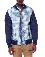 Buyers Picks - Acid Indigo Bomber Jacket