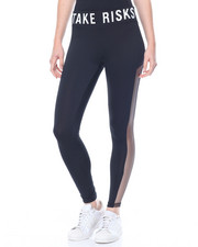 "Bottoms - ""Take Risks"" Mesh Sides Active Legging"