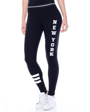 Bottoms - Screened Legging w/ Novelty Elastic