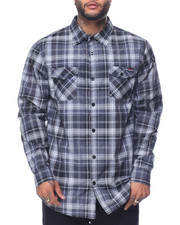 Men - Enyce Plaid L/S Button-Down (B&T)
