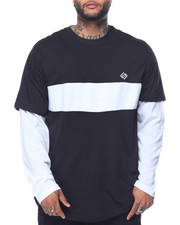 Enyce - L/S Twofer Contrast Panel T-Shirt (B&T)