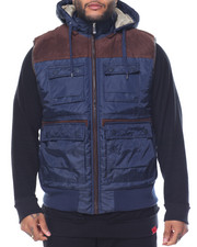 Men - Microsuede - Trimmed Nylon Vest