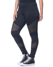 Bottoms - Mesh Insert Active Legging (Plus)