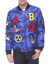 Men - B P Logos Camo Bomber Jacket