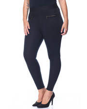 Bottoms - Quilted Legging w/ Zips (plus)