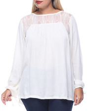 Tops - Light Weight The Falls Peasant Top (plus)