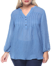 Fashion Tops - Melly Peasant Top (plus)