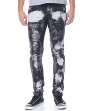 Kilogram - Bleached / Black - Out Moto Denim Jeans