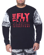 Men - Fly Life L/S T-Shirt (B&T)