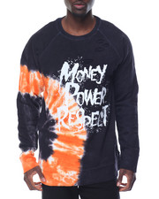 Sweatshirts & Sweaters - Money Power Respect Tie - Dye Destructed Crewneck Sweatshirt