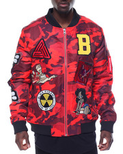 Light Jackets - B P Logos Camo Bomber Jacket