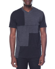 Shirts - Block Cut & Sew V-neck Tee