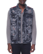 Basic Essentials - Buffalo - Trim Acid - Wash Denim Vest