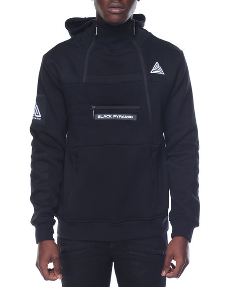 Buy b p tech fleece hoodie men 39 s hoodies from black for Black pyramid t shirts for sale