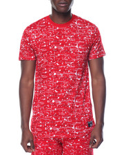 Shirts - Color Textured Print Tee