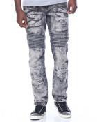 Ripped Moto Denim Jeans
