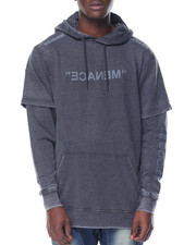 Hoodies - Menace Layered Pullover