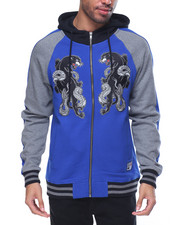 Light Jackets - SOUVENIR JACKET PANTHER  FLEECE HOODIE FULL-ZIP