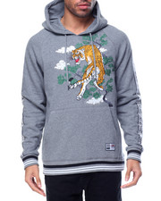 Hoodies - SOUVENIR Tiger MODIFIED FLEECE HOODIE PULL-OVER