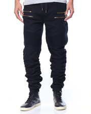 Jeans & Pants - Shirred Moto Twill Pant