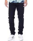 TRI-TONE FLANNEL - LINED DENIM JEANS