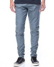 Jeans & Pants - DISTRESS BIKER TWILL PANTS