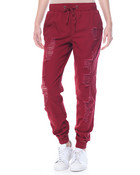 Destructed Stretch Twill Jogger