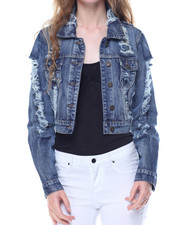 Fashion Lab - Fully Destructed Denim Jacket