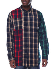 Long-Sleeve - TRI - TONE FLANNEL L/S BUTTON - DOWN