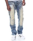 Vintage Rip - And - Repair Denim Jeans