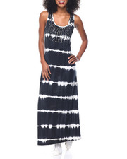 Fashion Lab - Tie Dye Embellished Neckline Maxi