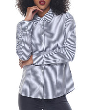 Polos & Button-Downs - Stripe Stretch Button Down Shirt