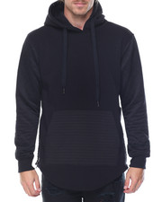 Hoodies - Side - Zip Biker Fleece Pullover Hoodie