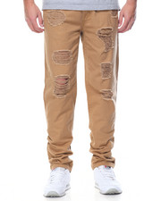 Jeans & Pants - Basic Distressed Twill Pants