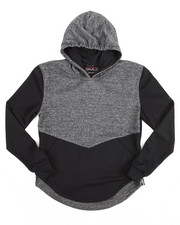Arcade Styles - FRENCH TERRY SCALLOP HEM HOODY W/ ZIPPERS (8-20)