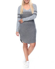 Fashion Lab - Touch Down V-Neck Jersey Dress (plus)