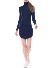 Women - Depths Light Weight Turtle Neck Dress
