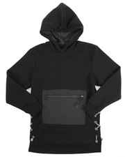 Arcade Styles - TECH QUILTED PULLOVER HOODY W/ SIDE LACES (8-20)