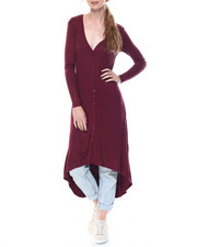 Fashion Lab - Wanda Long Sleeve High Low Duster