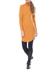Women - Clyde Shirtail Hem Turtle Neck Dress