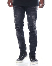 Jeans & Pants - Zipper - Bottom Moto - Style Denim Jeans