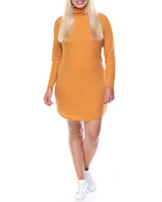 Fashion Lab - Clyde Shirtail Hem Turtle Neck Dress (plus)