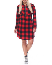 Fashion Lab - Lumber Barcelona Plaid Dress W/belt (plus)
