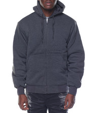 Basic Essentials - Basic Nylon - Lined Zip - Up Fleece Hoodie