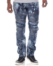 Jeans & Pants - Wash Moto Denim Jeans